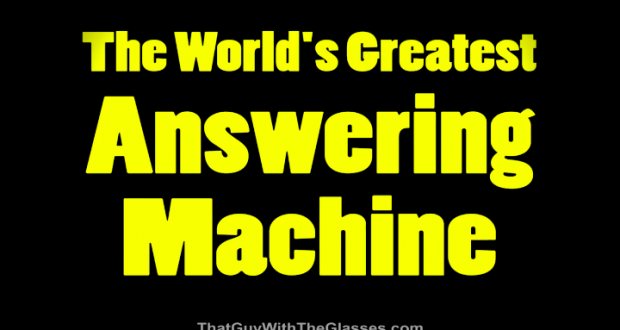 cool answering machine message