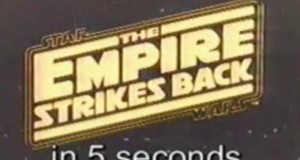 Star Wars Episode V - Empire Strikes Back in 5 Seconds