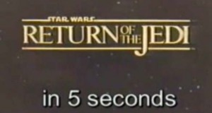 Star Wars Episode VI - Return of the Jedi in 5 Seconds