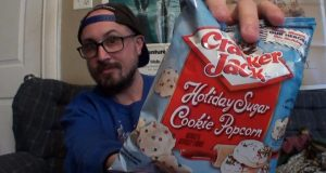 Brad Tries Cracker Jack Holiday Sugar Cookie Popcorn