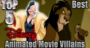 Top 5 Best Disney Animated Movie Villains