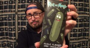 Brad Tries Pickle Rick Chocolate