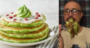 Brad Tries Grinch Pancakes