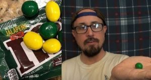 Brad Tries Jalapeño M&M's